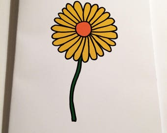A5 Dandelion Notebook (plain inside)