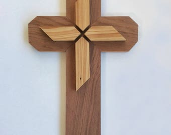 Wooden Cross using Redwood and Cypress wood