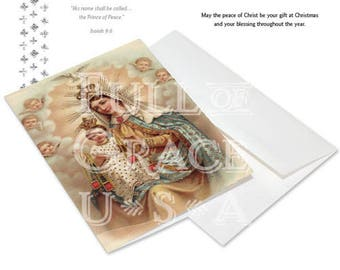 Our Lady of Mt. Carmel Christmas Cards, Box of 10 on premium recycled paper
