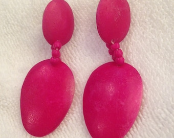 Vintage Fuchsia Dangle Earrings