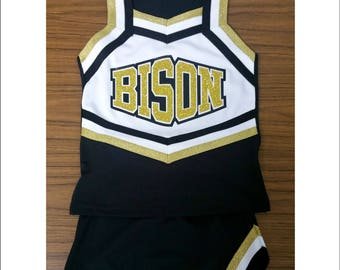 Cheerleader Uniforms , Girls Cheer Uniforms, School Spirit, Ladies Cheer, Custom Design Tees, Girls Cheer Tops, School Spirit Uniforms