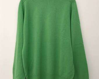 Kiltyre / lambswool sweater / vintage pullover / vintage turtleneck / turtleneck sweater / turtleneck men / green sweater / made in Scotland