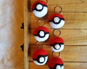 Pokeball Keychain || Crochet Keychain, Crochet Pokeball, Pokemon Toy, Crochet Pokemon, Keychain, Amigurumi, Pokemon, Pokeball Amigurumi