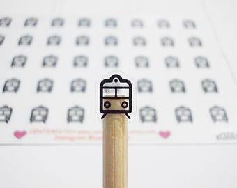 CLEAR Train Planner Stickers, Erin Condren Planner Stickers, Happy Planner Stickers, Clear Planner Stickers, Transparent Stickers (st366#)