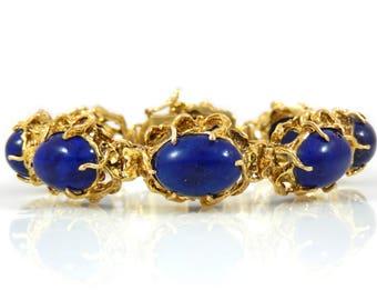 Lapis Lazuli 14K Gold Bracelet - X4071