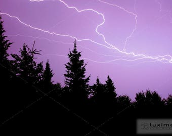 Lightning Skies, Landscape Print Photograph, Wall Decor