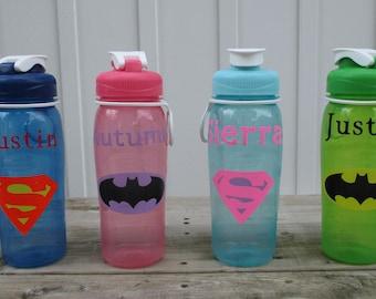 Personalized Superhero Water Bottles