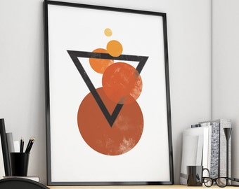 Geometric Poster, Geometric Art, Minimalist Print, Triangle Print Art, Geometric Print, Geometric Wall Art, Geometric Printable Nordic Decor