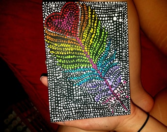 Feather Dot Painting
