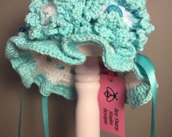 Airy Aqua doll hat