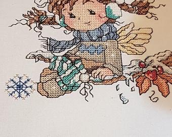 Snowy Baby, Cross stitch for embroidery machine.