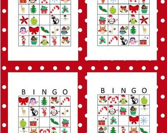 Christmas Bingo Worksheets, Activities for Kids, Printables, Digital Downloads, PDF & JPG Format
