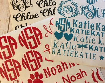 Name decal sheet,back to school decal, custom labels, personalized name decals, whole sheet vinyl decals