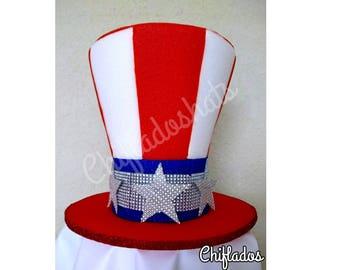 Patriotic uncle sam hat