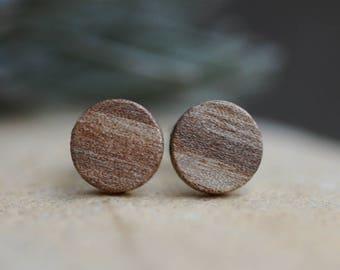 Holzohr plug made of walnut wood handmade//8 mm//wooden stud earrings//wooden earrings//wooden earrings//natural//Ethno