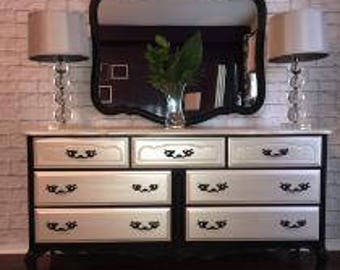 Metallic French Provincial Dresser