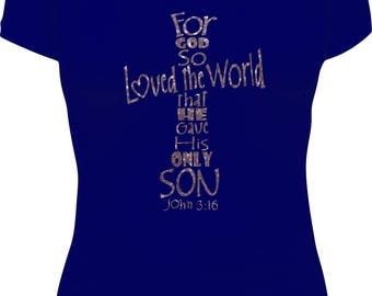 God So Loved the World V-Neck T-Shirt