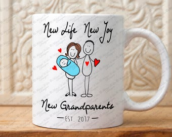New Grandparents mug, Pregnancy reveal mug, announcement,Gift Grandparents, Grandparents gift, grandpa, grandma,New grand baby, Coffee mug