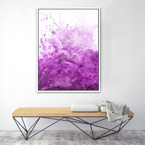 Water & Salt Pink - Framed Giclee Print