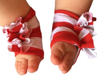 4th of July Shoes - Baby Red and White Shoes - Stripe Shoes - Baby Girl Shoes - Baby Sandals - Red White and Blue - Baby Shoes - Shoes