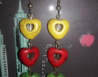 One Love Heart Earrings