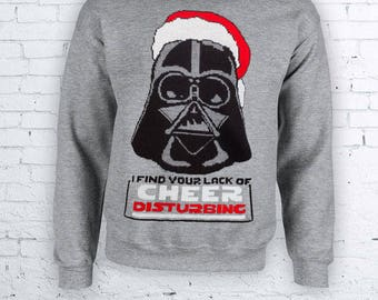 I Find Your Lack Of Cheer Disturbing Star Wars Darth Vador Christmas Holidays Ugly SweaterChristmas Sweather Crewneck Sweater Hoodie FEA394