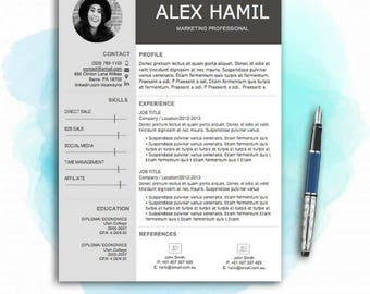 creative resume etsy - Creative Resume Templates