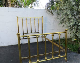 Early Victorian Brass Bed 8599