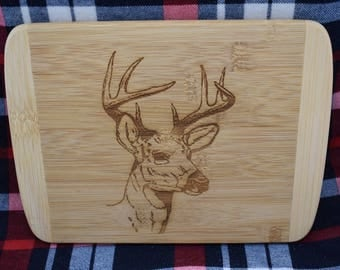 Deer engraved Bamboo cutting board