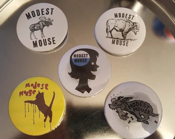 """Modest Mouse Pinback Buttons 2.25"""" 5 Pack"""