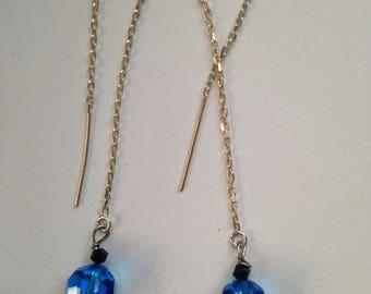 Teal Swarovski Crystal Earrings