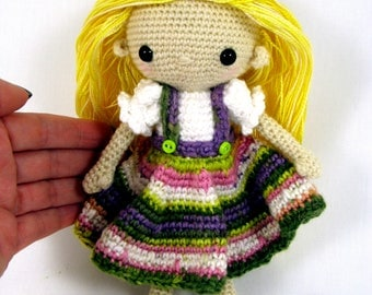 Small Crochet Amigurumi Doll