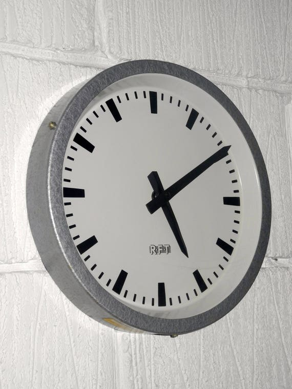 1960'sEast German Industrial Factory / Office Clock By RFT
