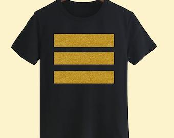 Golden Stripe Unisex T shirt, T Shirts For Men, T Shirts For Women T Shirt For Youth, Street T-shirts Hipster T Shirt Customize Gift T Shirt