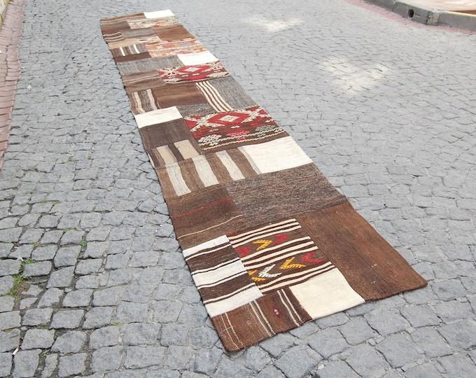 Runner Rug, Hallway Rug, Hallway Runner Rug, Area Rug, Entryway Rug, Vintage Rug, Turkish Rug, Oriental Knotted Rug ! Feet : 2.52 x 15.95