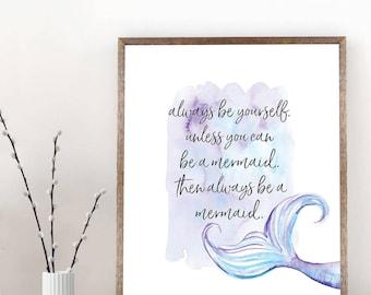 PRINTABLE: Mermaid Print