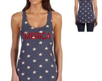 July 4th America Tank, 'merica Tank, Fourth of July Tank, Mom, Wife Tank, July 4th Tee Shirt