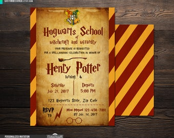 Harry Potter Invitation, Harry Potter Birthday, Harry Potter Party Invitations, Harry Potter Invites, Hogwarts invitation