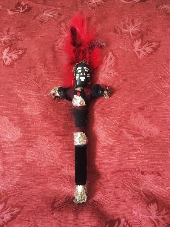 Papa John Voodoo Doll Authentic New Orleans Handmade Juju Vodou Gris Gris