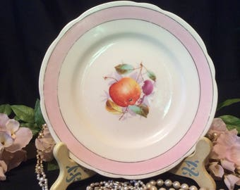 "KPM ""Apples and Cherries"" Small Salad/Dessert Plate, late 1800's"