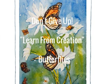 JW Download Watercolor  Don't Give Up 2017  ButterfliesTina Marie Collection