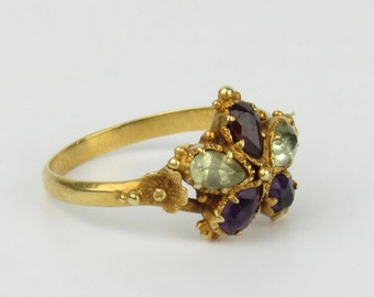 18K Georgian Pansy Ring