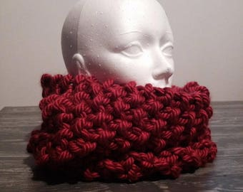 Wool scarf, collar, neck warmer