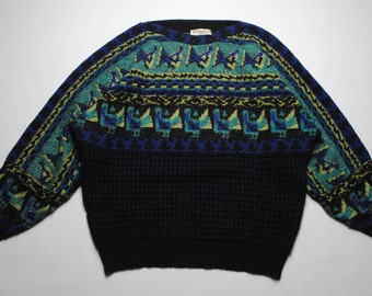 vintage Carlo Colucci knit sweater SIZE 50 made in West Germany 80's 90's