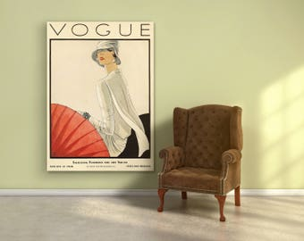 Vogue Cover Fashion wall Art. Vintage Vogue cover poster. Vogue cover fashion Print. Vogue 1928 cover. Fashion decor poster. Free shipping.