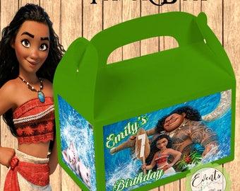 Moana Inspired Favor Box,  Moana Inspired Treat Box, Moana Party Boxes - Set of 12