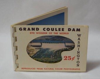 Vintage Grand Coulee Dam Souvenir Booklet/Postcard