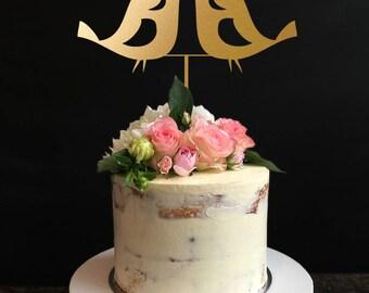 Wedding Cake Toppers silhouette, Rustic Wedding Topper,Love Birds Cake Toppers, Cake Topper for Wedding, Anniversary, Birthday