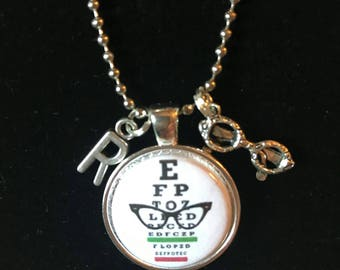 Eye Chart Necklace