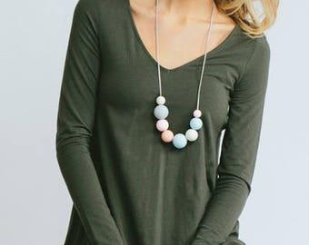 Nadine Necklace (pastel beads)